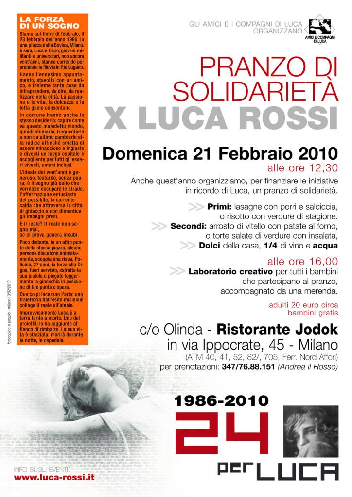 Pranzo x Luca iniziativa 2010