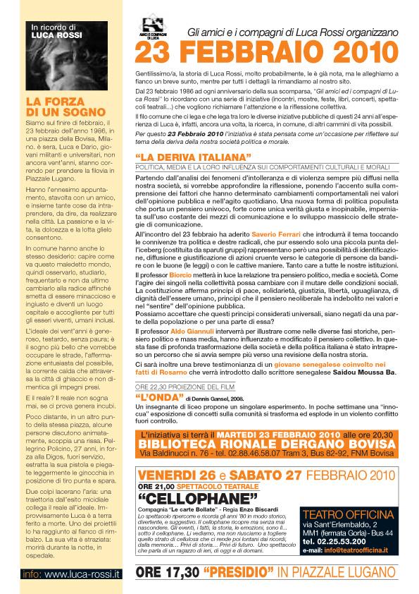 Presentazione iniziativa 2010