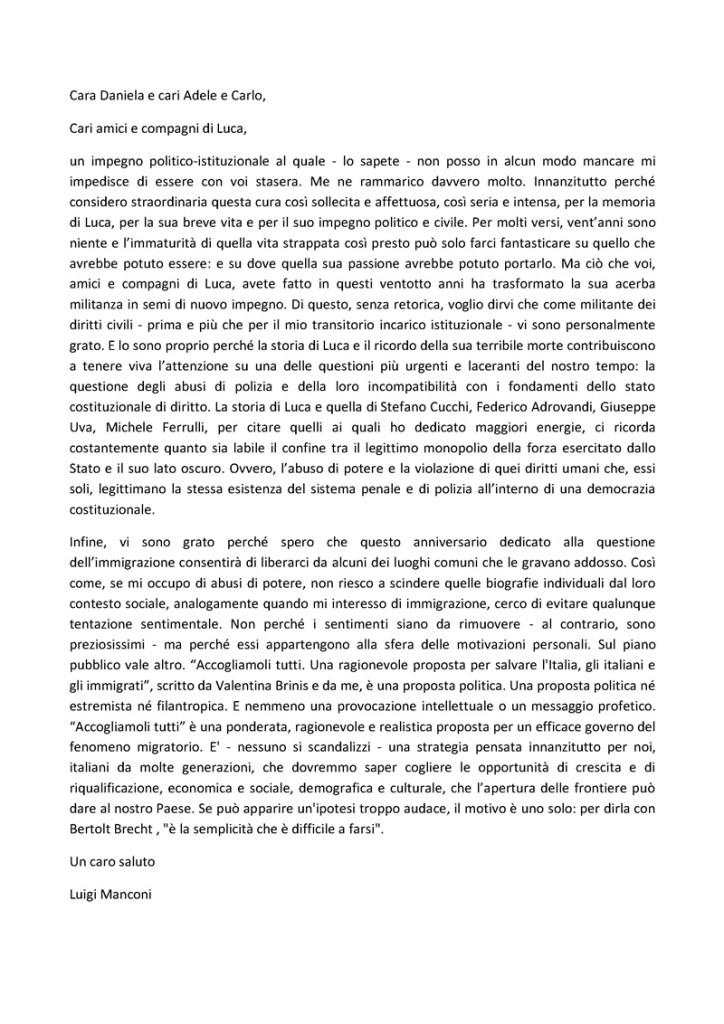 per Luca Rossi - Luigi Manconi -2014