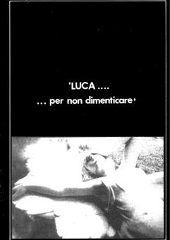 1986 libro Luca per non dimenticare