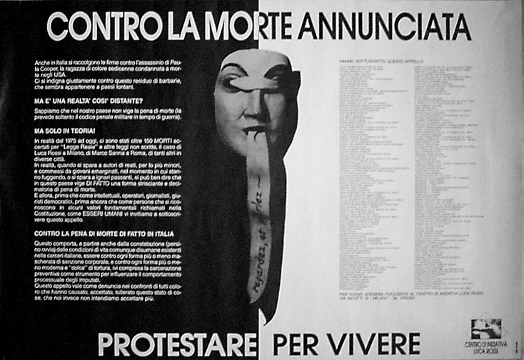 1987 Locandina Morte annunciata