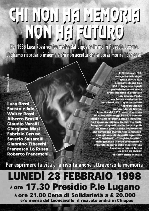 1998 Locandina Cena Solidarieta