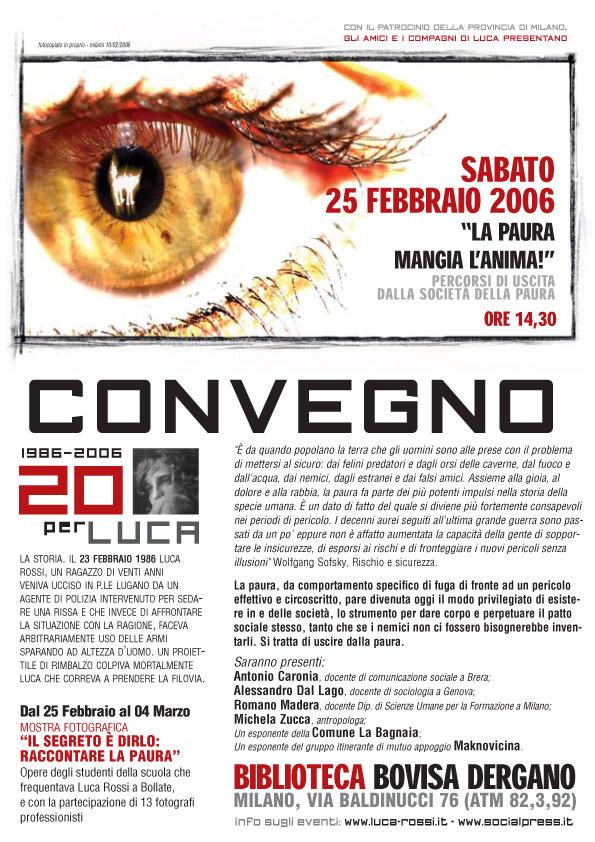 2006 Locandina 20 Convegno