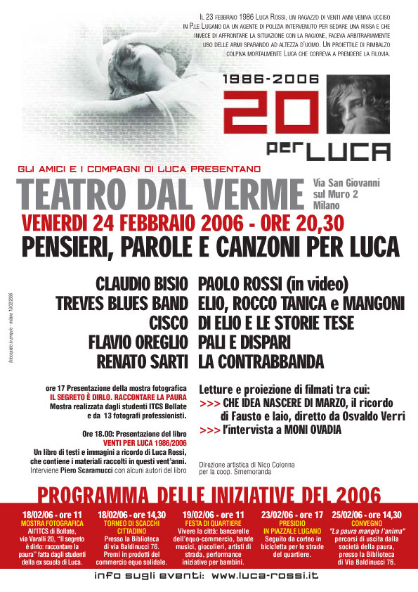 2006 Locandina 20 Dal Verme