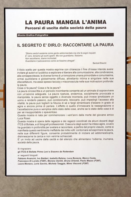 2006 La Mostra sulla Paura all'Itsos di Bollate