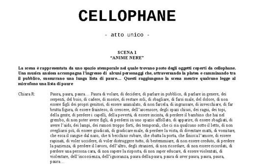 Taglio testo Cellophane