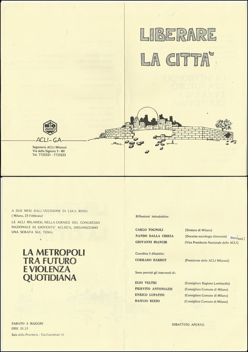1986 Acli - volantino