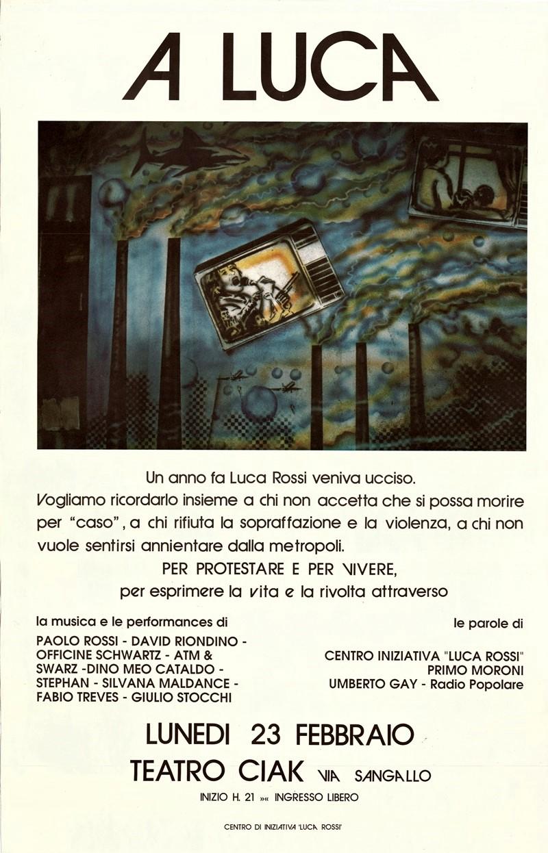 Teatro Ciak - 23 febbraio 1987