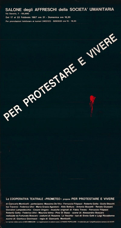 1987 Per protestare e vivere