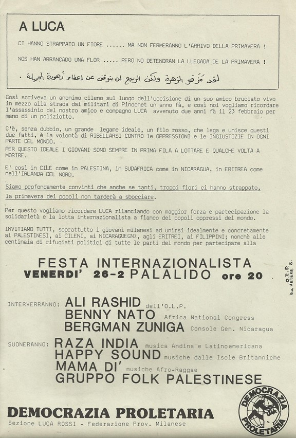 1988 DP - Festa internazionalista - volantino low