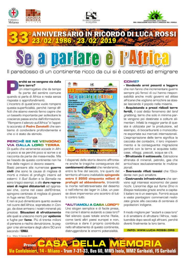 presentazione Se a parlare è l'Africa
